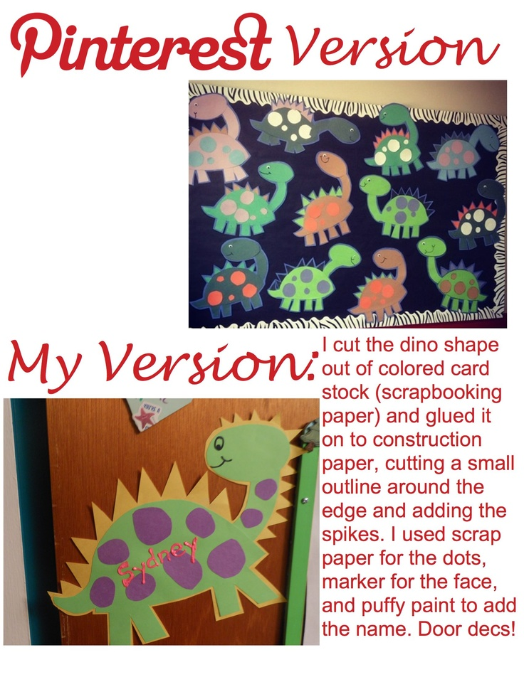 My version of a pin I found earlier dinosaur bulletin board used as a template for college door decs! I WANNA DO DINOSAURS  sc 1 st  Pinterest & 165 best RA Life - Door Decs images on Pinterest | Ra boards Ra ...