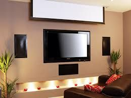 Image result for tv and pull down projector screen
