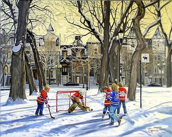 Scènes de Hockey