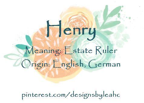 Baby Boy Name: Henry. Meaning: Estate Ruler. Origin: English, German. Nickname: Harry, Hank, Huck, Hal.