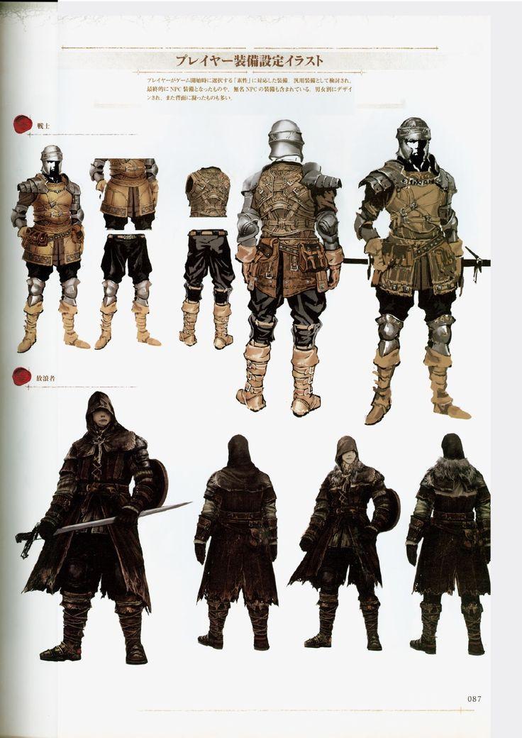 Dark Souls Character Design Process : Dark souls design works artbook character