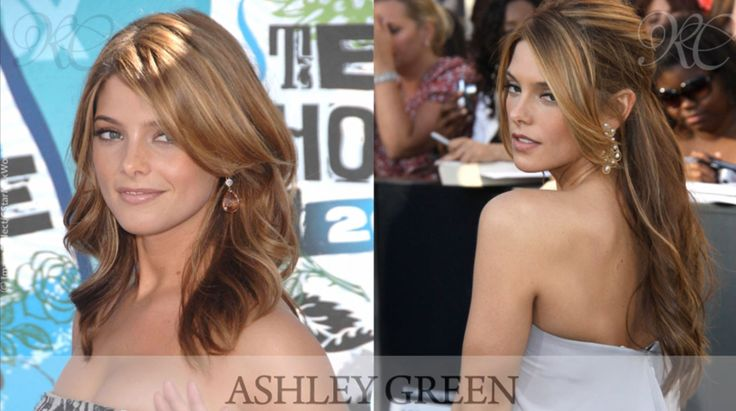 Before and After shot of Ashley Green's Hair Extensions