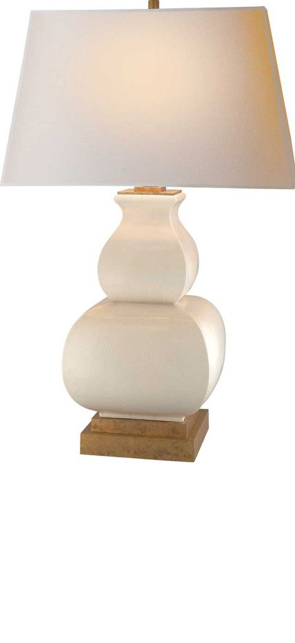 Table Lamps, Designer Classic White Porcelain Gourd Lamp, from InStyle Decor Beverly Hills