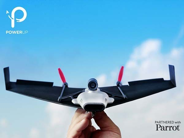 PowerUp FPV Paper Airplane Drone with a Live Streaming Camera