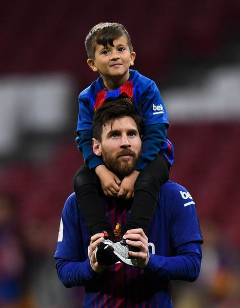 31e1528a6c7 Lionel Messi of FC Barcelona and his son thiago enjoy the celebration after  winning the Spanish Copa del Rey Final match between Barcelona and Sevilla  at ...