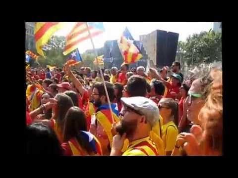 Los Catalanes Quieren Independencia. Barcelona -  Cataluña 2014