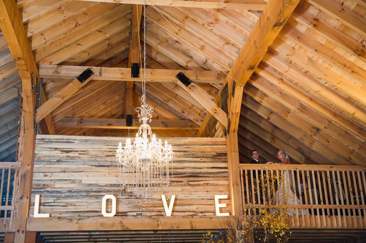Rustic Barn Wedding | Chandelier and DIY Marquee Lights| Photo by Edmonton photographer Amperasand Grey|