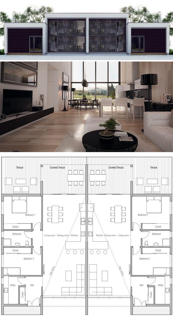 Best 20 duplex house ideas on pinterest for Plan maison duplex