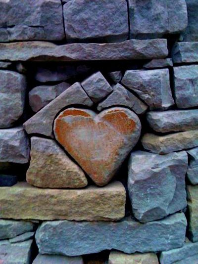 I want a heart rock/stone like this placed in the foundation of my log home when I have it built