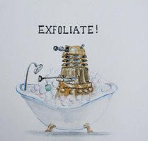 looking to geek up your bathroom then perhaps this doctor who inspired print is exactly what you should be hanging on your wall