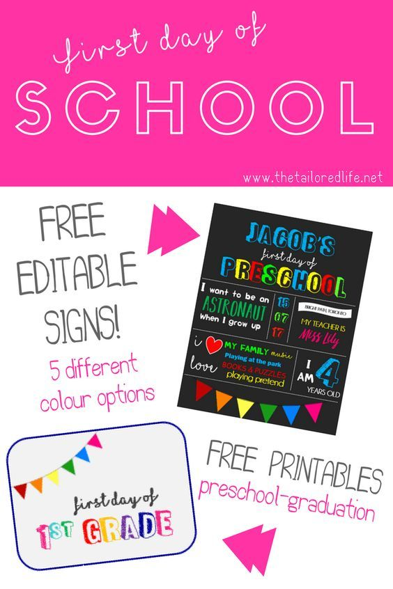 First Day of School Editable Signs Free Download! www