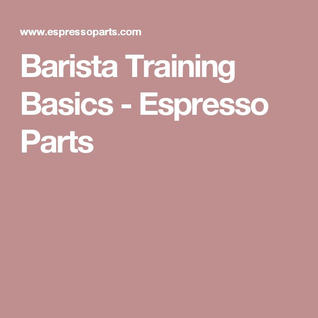 Barista Training Basics - Espresso Parts