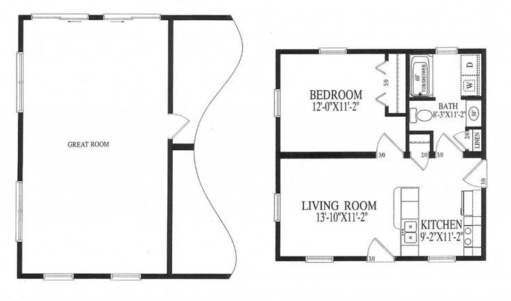 Small mother in law addition small in law apartment for Floor plans for in law suite addition