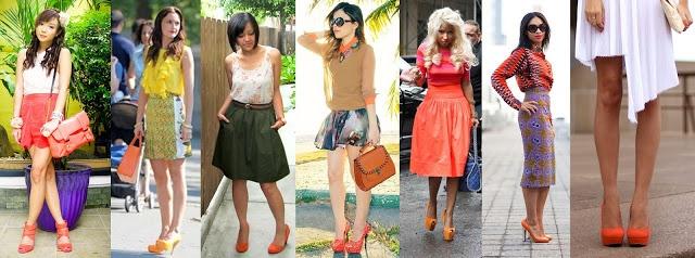 =)Zapatos Naranja Coral