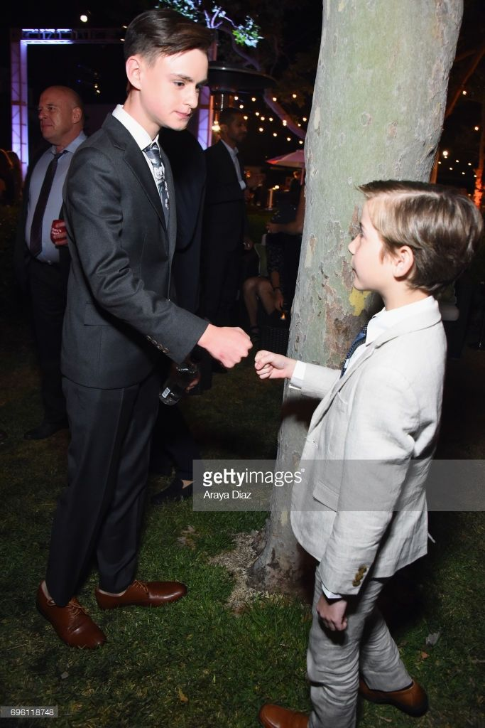 Actors Jaeden Lieberher and Jacob Tremblay attend the Opening Night Party during the 2017 Los Angeles Film Festival at Culver Studios on June 14, 2017 in Culver City, California.