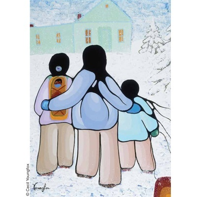 Family by Cecil Youngfox, a UNICEF card artist.