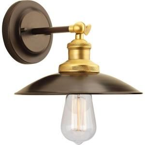 Progress Lighting Archives Collection 1 Light Antique Bronze Wall Sconce P7156 20 At The