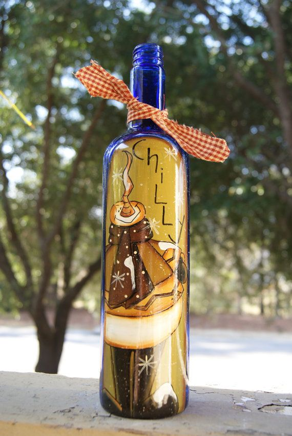 542 best wine bottle art images on pinterest decorated bottles hand painted country snowman wine bottle by ramshackles on etsy 1795 solutioingenieria Images