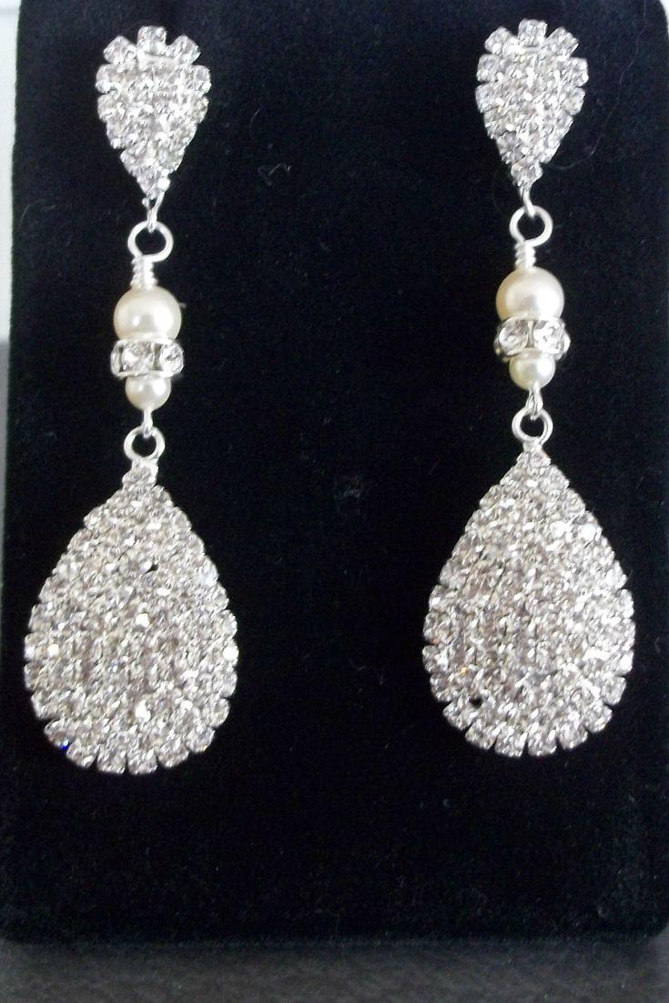 126 best crystal bridal earrings images on Pinterest   Bridal ...