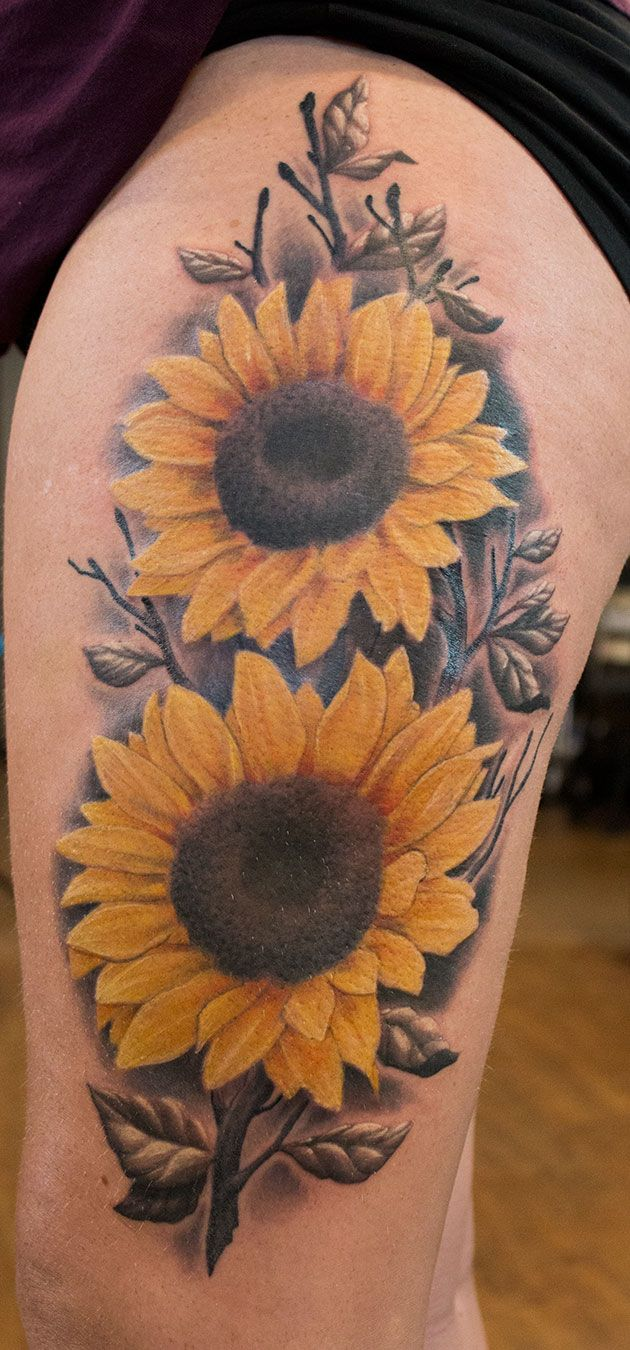 Best 25 tattoos pics ideas on pinterest pics of tattoos for Sunflower tattoo thigh