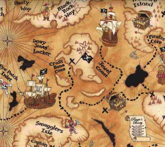 Treasure Map Printable Jake Amp The Neverland Pirates