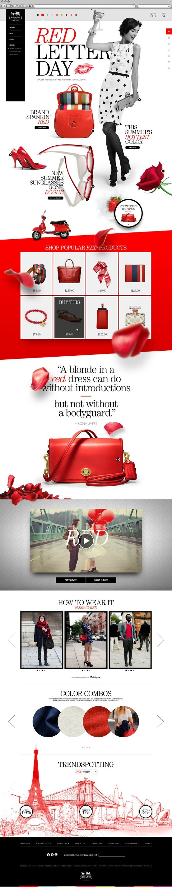 #Fashion web template #Red webdesign page   83oranges.com