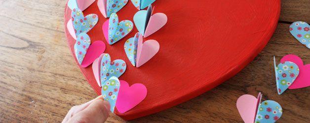 Grote liefde? Groot hart knutselen!  #Valentijnsdag #Moederdag