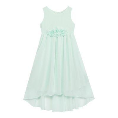RJR.John Rocha Girls' green floral applique dress | Debenhams