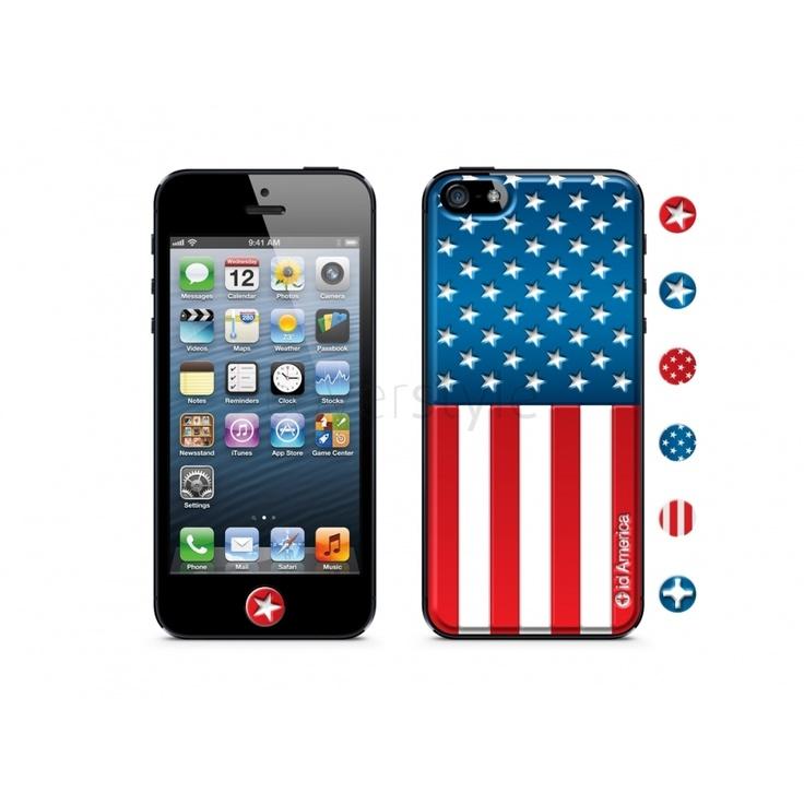 id America - Skin Cushi Gift per iPhone 5 - America