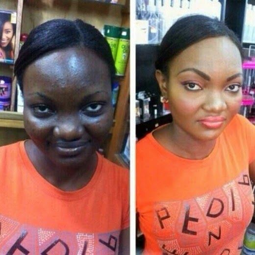 black girl makeup before and after - Google Search | Before & After Makeup | Makeup, Ugly makeup, Photo makeup