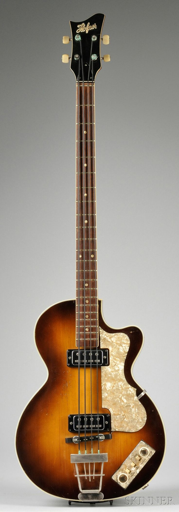 German Electric Bass Guitar, Karl Hofner Company, Schonbach, 1965, Model Club Bass | Sale Number 2569B, Lot Number 3 | Skinner Auctioneers