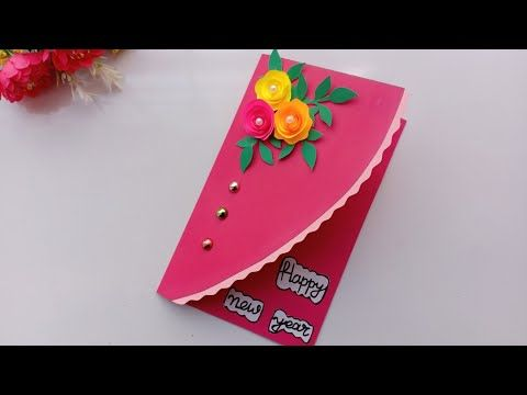 Beautiful Handmade Happy New Year 2019 Card Idea Diy Greeting Cards For New Year Youtube Card Design Handmade New Year Cards Handmade Cards Handmade
