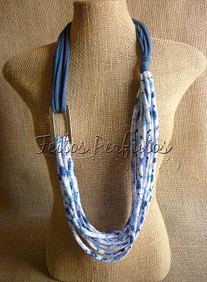so many fabric necklace ideas!