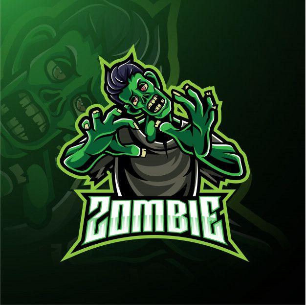 Logotipo De Mascote Morto Vivo Zumbi Zumbi Logotipo Do Jogo Logotipo