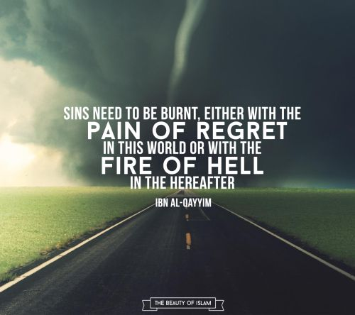 Sins need to be burnt...