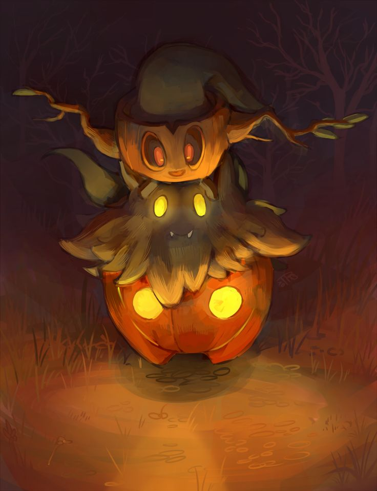 j3rry1ce: More ghost Pokemon! I can imagine that Pumpkaboo and Phantump are ghost plant bros.