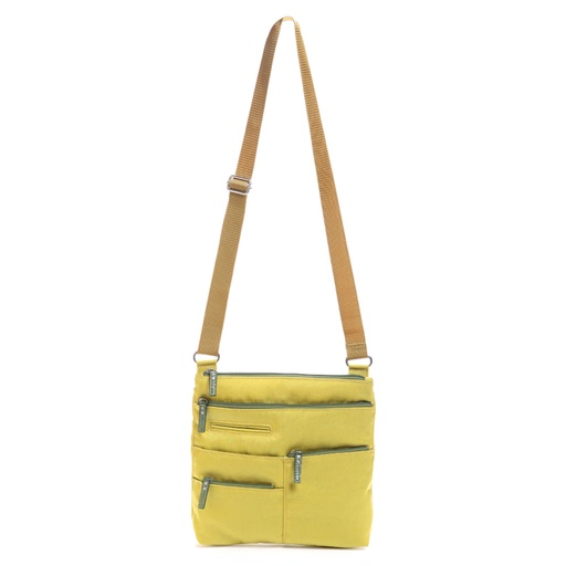 Multi Pocket Shoulder, Lime Yellow, Small