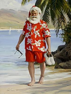 Warm Winter BreakWinter Breaking, Santa Clause, Warm Winter, Santa Vacations, At The Beach, Beach Santa, Tom Brown, Winter Vacations, Brown Christmas
