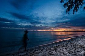 Walking at dusk