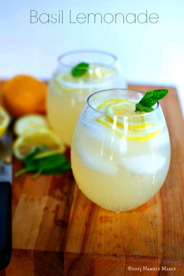 Basil Sparkling Lemonade is perfect for a summer baby shower or any day of the week ~ Namely Marly