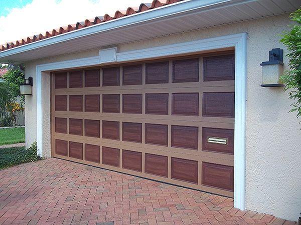 painting garage doors | Paint Garage Door and Front Door Like Wood