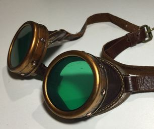 Now here is a simple Steampunk goggles you can purchase or make.  http://www.steampunkshoppe.com.au/shop/