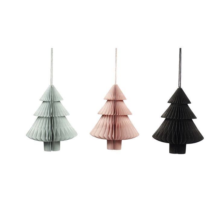Paper Christmas trees in a set of 3. Item number: 620101 - Designed by Hübsch