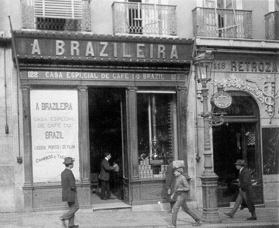 Café 'A Brasileira do Chiado', circa 1918