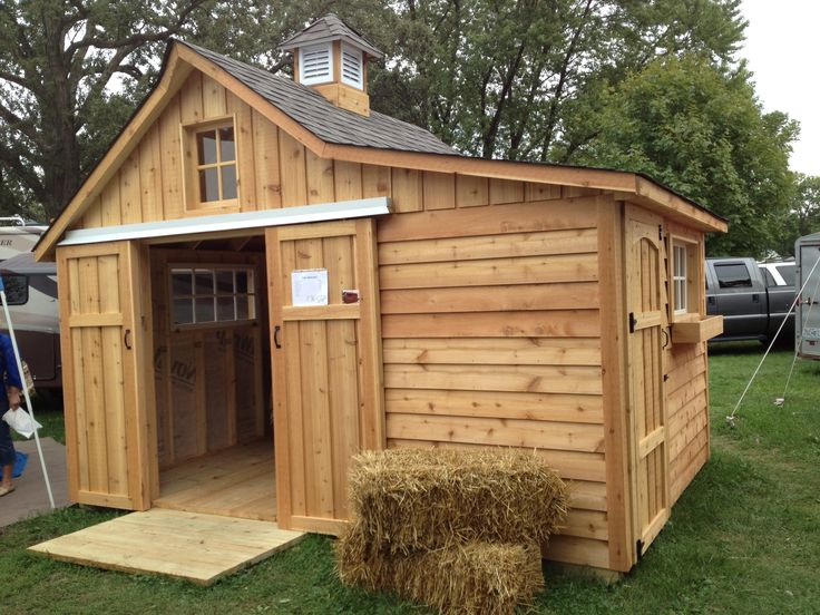 a tiny barn for my tiny horse! www.shedcraft.com