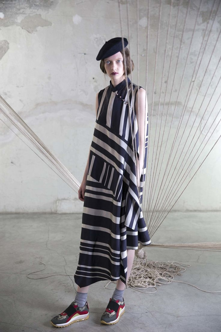 Antonio Marras Resort 2017 Collection Photos - Vogue ...gorgeous striped dress; I'd happily burn those sox & sneaks tho...