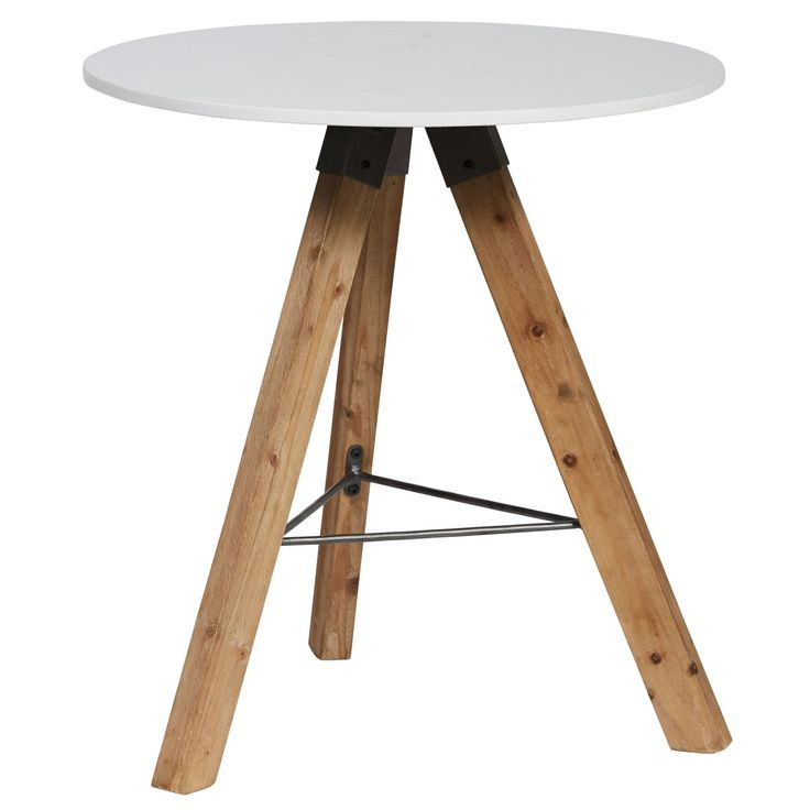 Hudson Stone Top Lamp Table