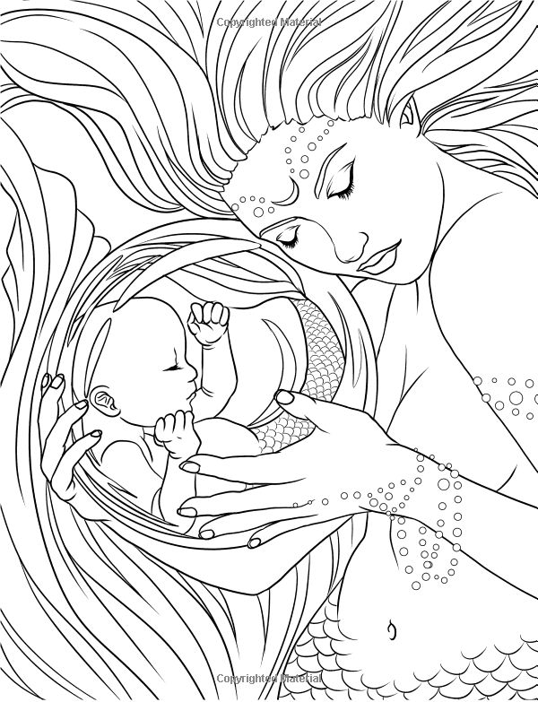 477 best Mermaid Coloring Sheets images on Pinterest