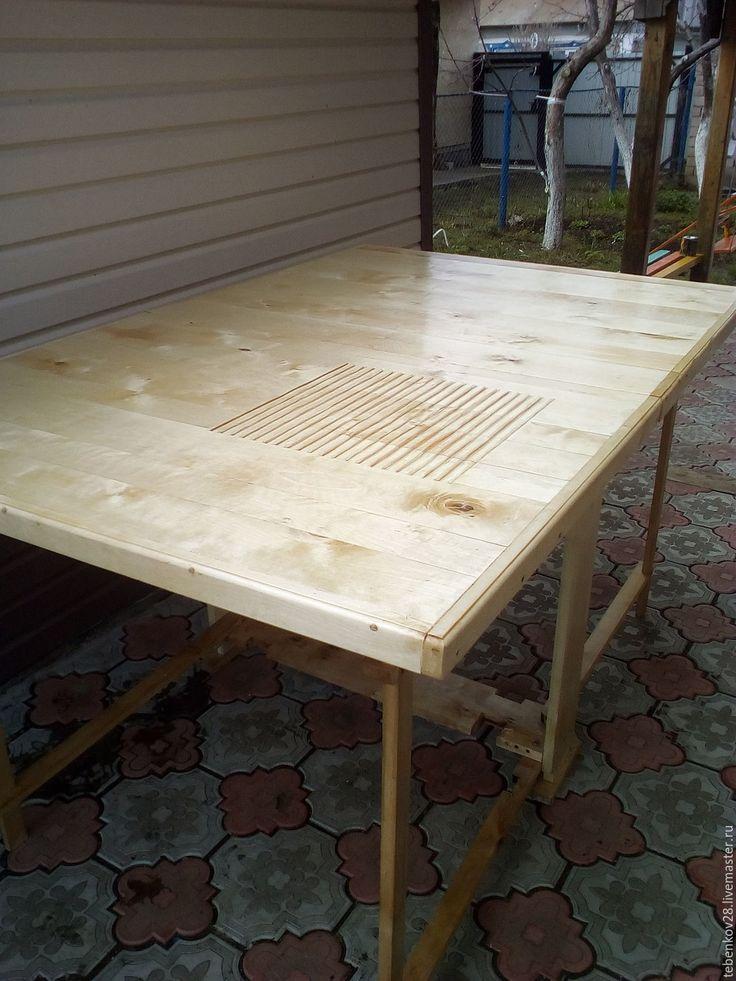 Купить Стол раскладной для валяния - мятный, Валяние, Мокрое валяние, стол, мебель из дерева