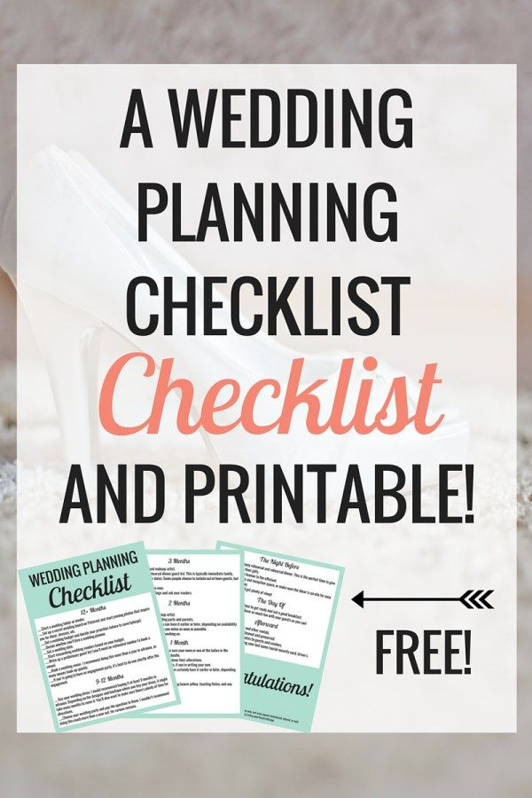 The 25+ best Printable wedding planning checklist ideas on - sample wedding planning checklist